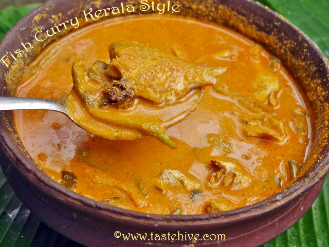 Kerala Fish Curry with Coconut Ground Paste and Malabar Tamarind/ Meen Thenga Curry with Kudampulli