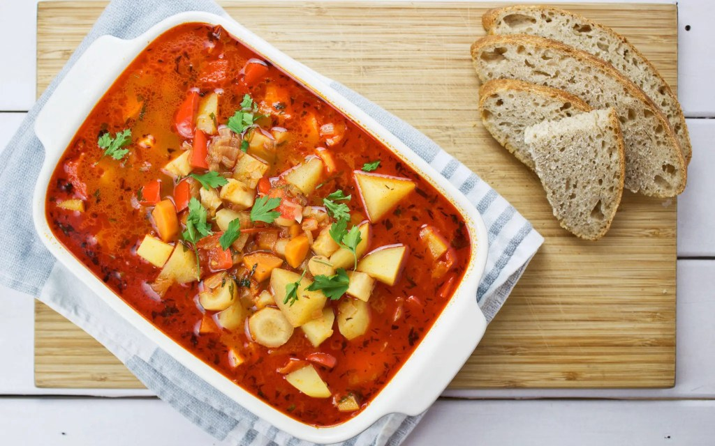 Goulash soup - a classic veganized