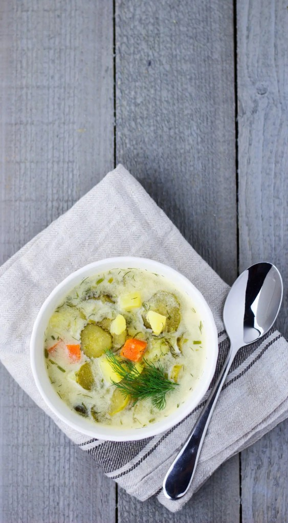 Polish Cucumber Soup - Perfect and easy vegan soup.