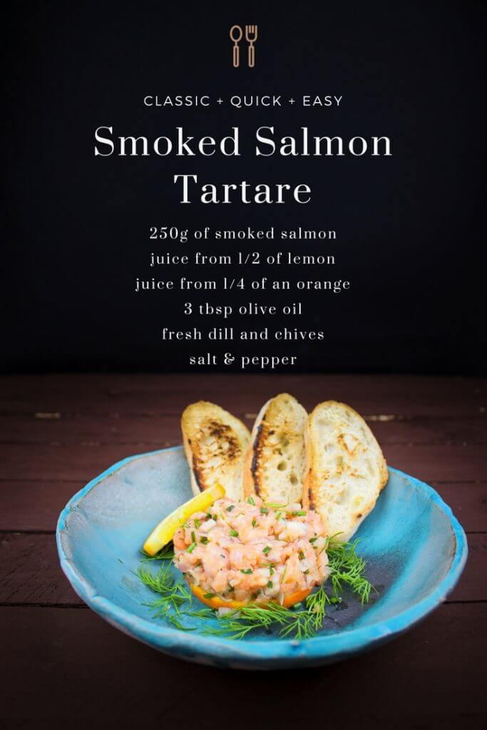 The best Smoked Salmon Tartare