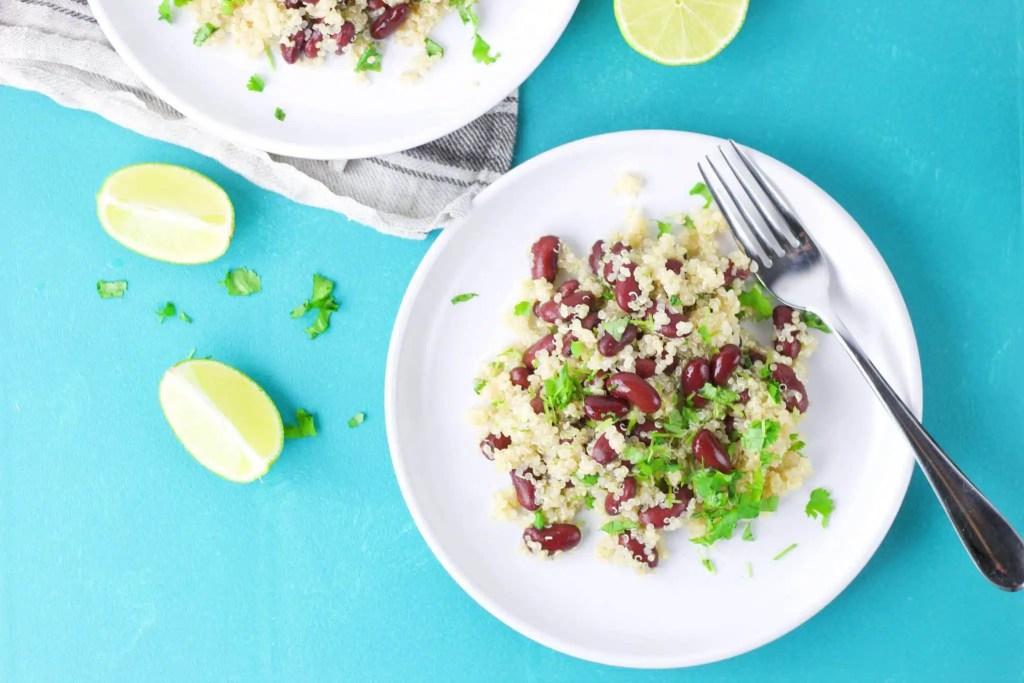 4 ingredient VeGaN quinoa protein salad