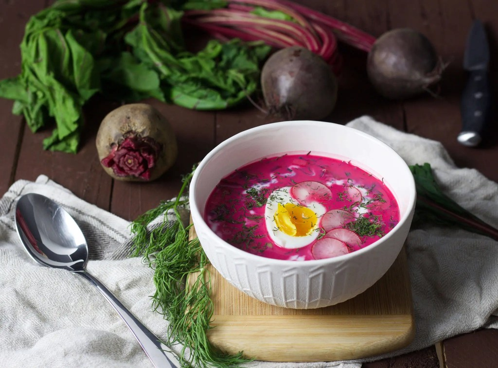 Easy Polish cold beetroot soup (chlodnik), to serve during hot summer