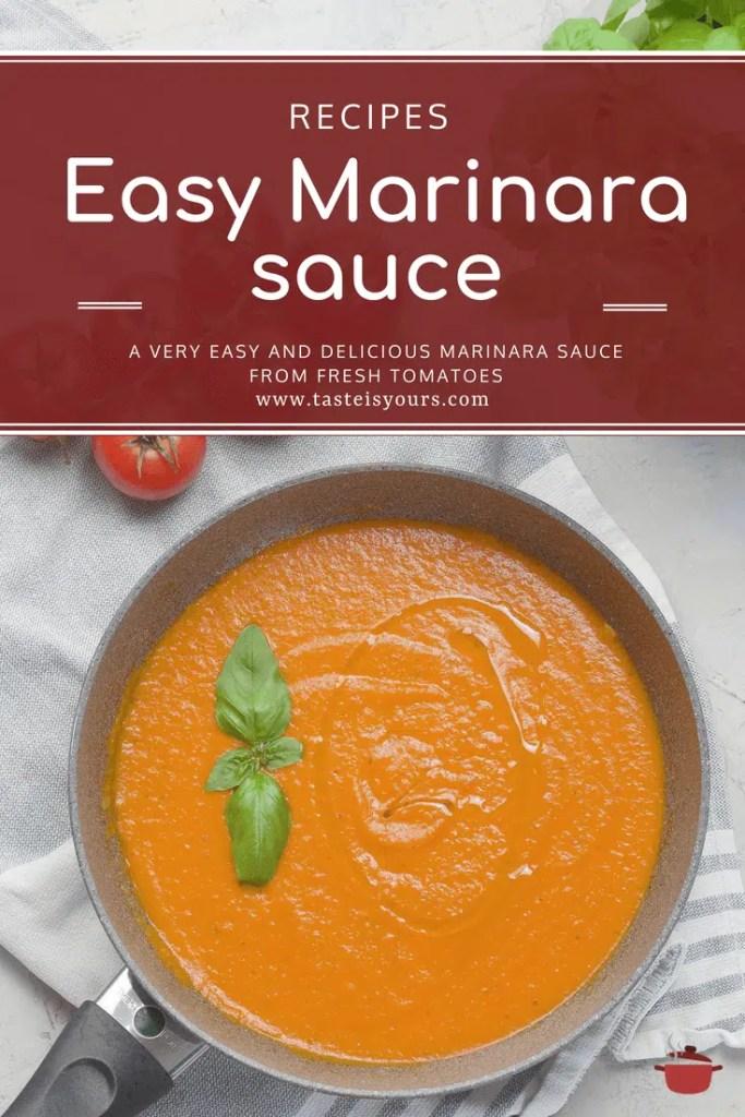 Easy Italian Marinara Sauce from fresh tomatoes. 1