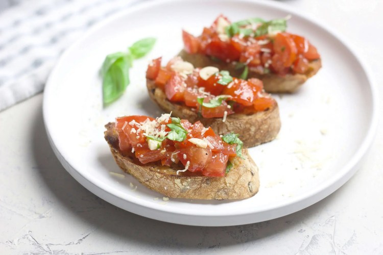 Classic bruschetta from fresh tomatoes