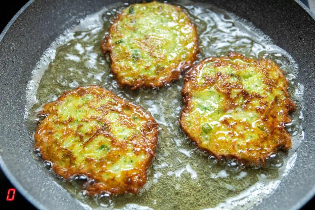 Easy 6 ingredients crunchy Zucchini and Potato Fritters