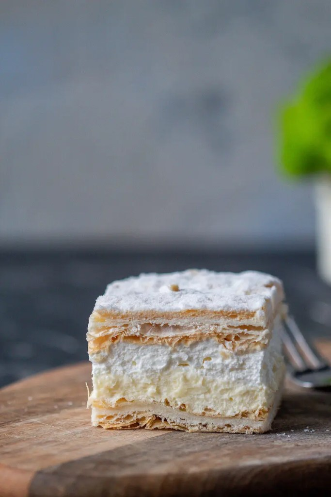 Papal cream cake or kremowka. - One of the best Polish desserts. 2