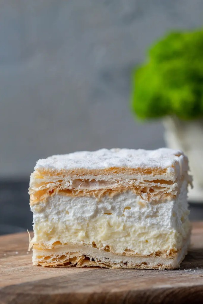 Papal cream cake or kremowka. - One of the best Polish desserts. 1