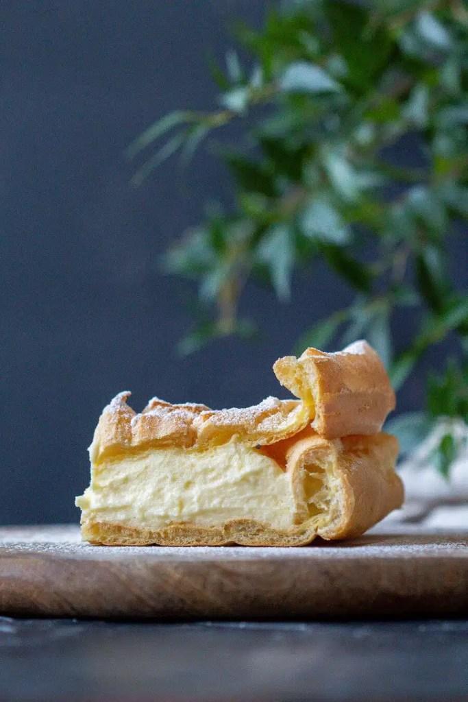 Traditional Karpatka - one of the most popular Polish desserts. 1