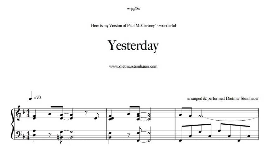 Yesterday by the Beatles