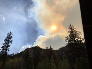 Smoke from the 415 Forest Fire.