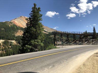 Near Red Mountain, rich in mining history.