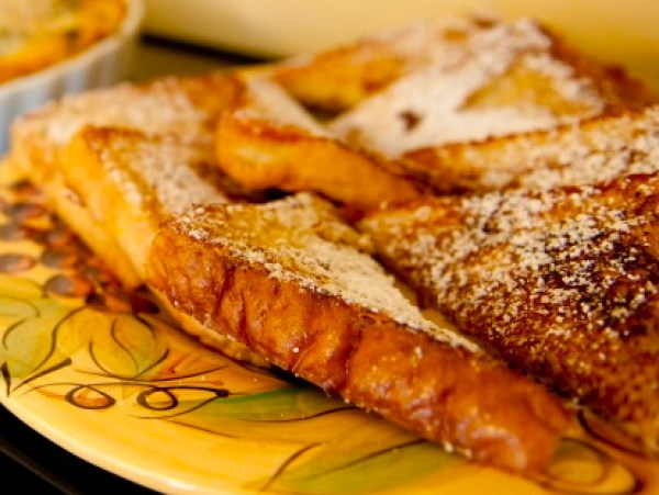 French Bread Custard