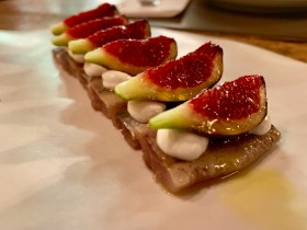Smoked Sardines and Figs at Llamber in Barcelona Spain