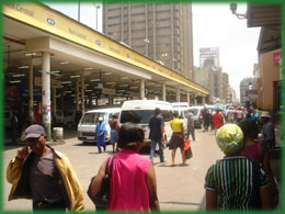 Johannesburg tour, uses the Cheap Transport Option, this is the Local Taxi Noord Street Node.
