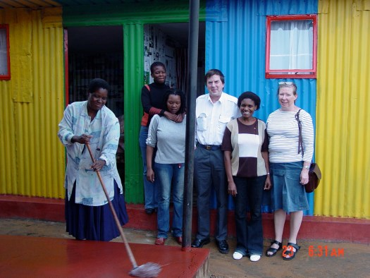 Homestay Africs, our first guests that we hosted in a KZN Village, 24 February 2006