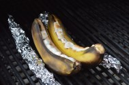 Banana boats from the DCS grill. Thanks, Bob Harris for these delightful treats!
