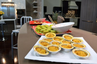 quiches and macaroons