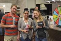 A few happy prize wheel winners