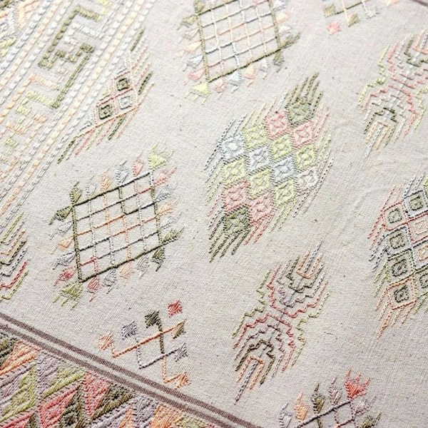 Natural dyed bed runner by Kelzang Handicraft 1