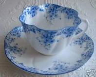 dainty blue shelley teacup