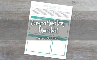 Conquer your Day Worksheet