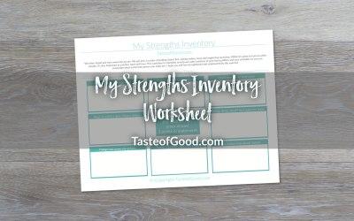 My Strengths Inventory Worksheet