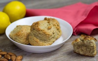 Almond Flour, Lemon, Vanilla Scones – Paleo & Gluten Free!