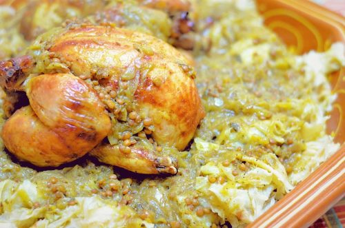 Moroccan Chicken Rfissa - Trid with Chicken and Lentils ...