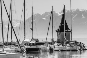 Morges Harbour, Lac Leman, Switzerland