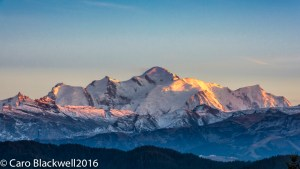 Sunset over Mont Blanc - Caro Blackwell