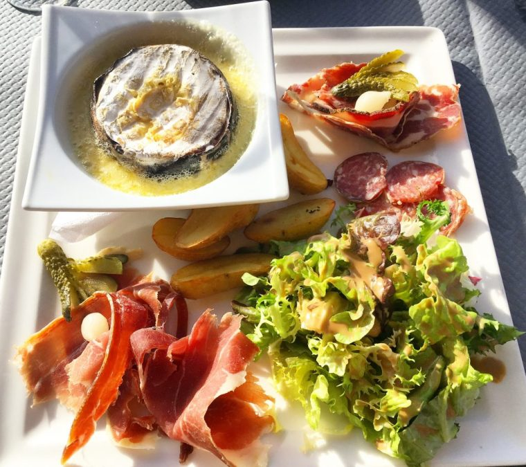 A Savoyard lunch on the terrace in the sunshine!