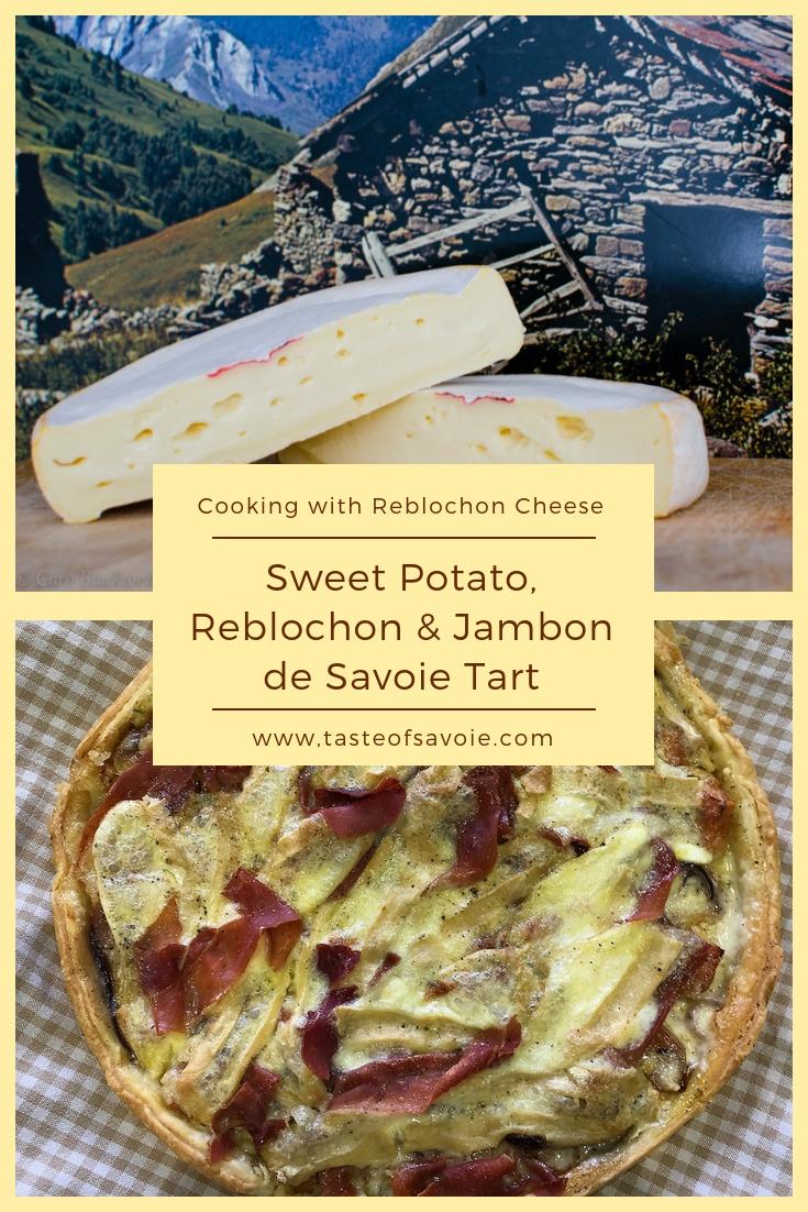 Sweet Potato and Reblochon Tart from The Taste of Savoie Kitchen