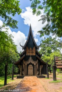 Entrance to The Black House in Chiang Rai