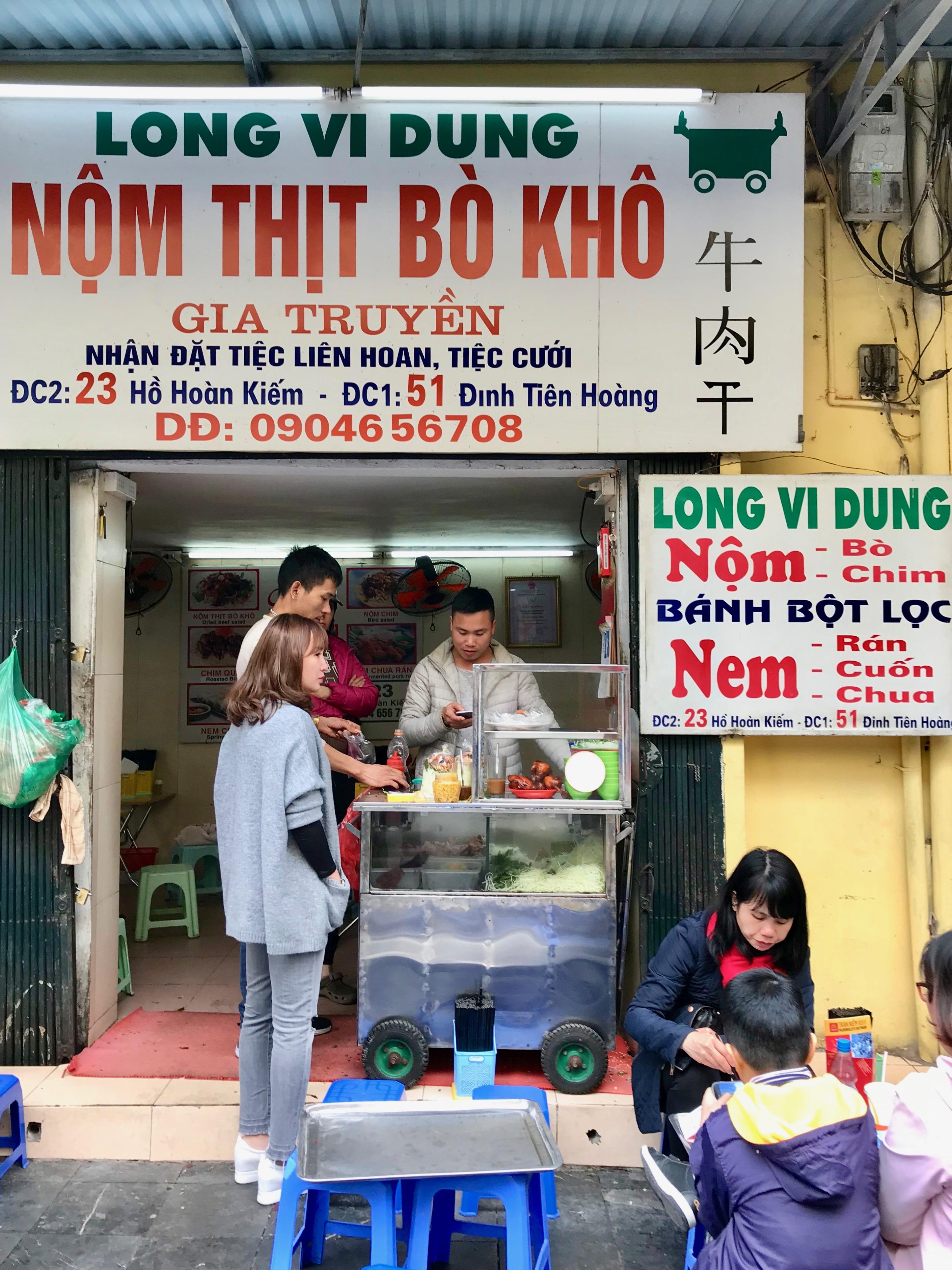 Nom Thit Bo Kho, Hanoi