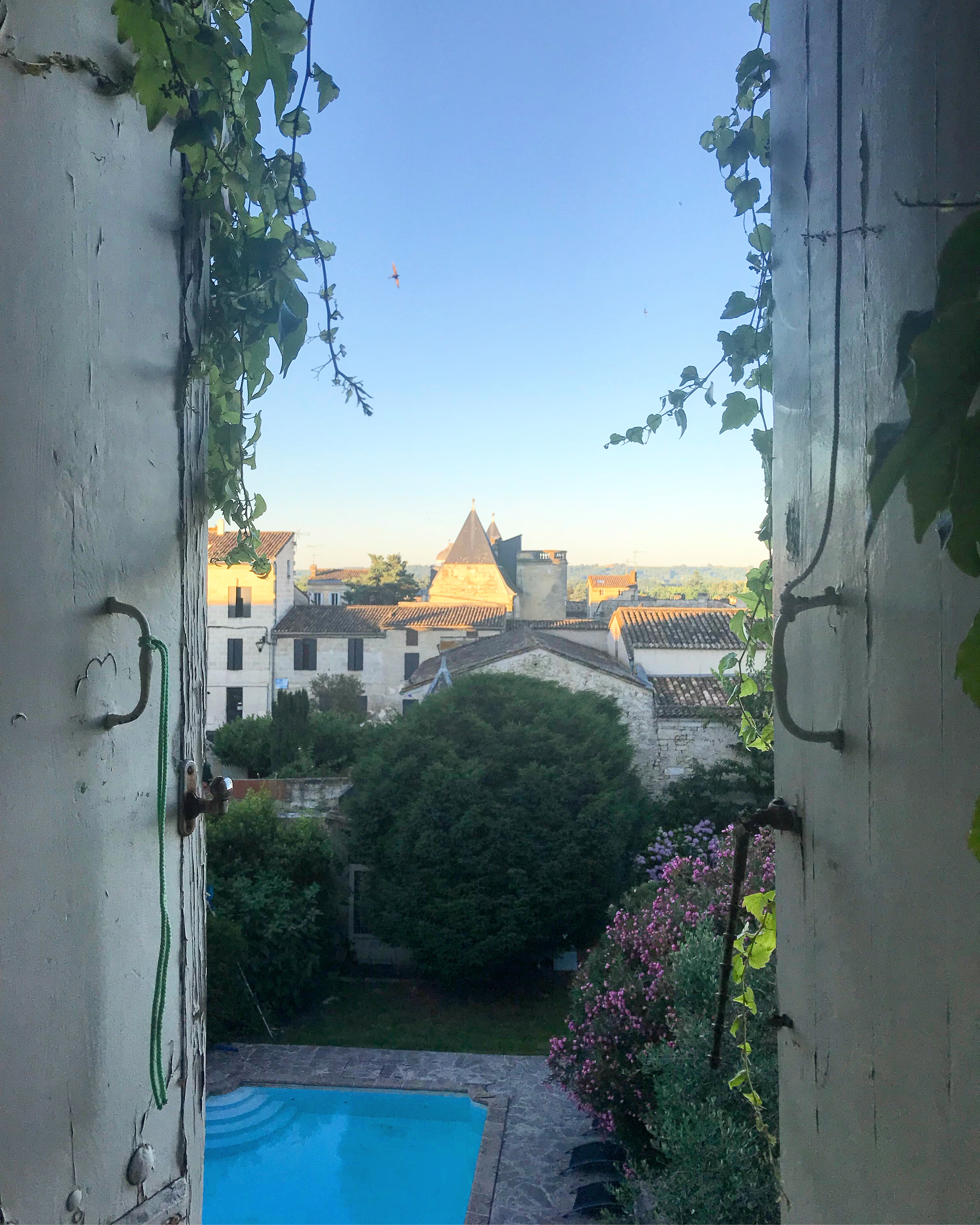 View from my room at Chez Castillon