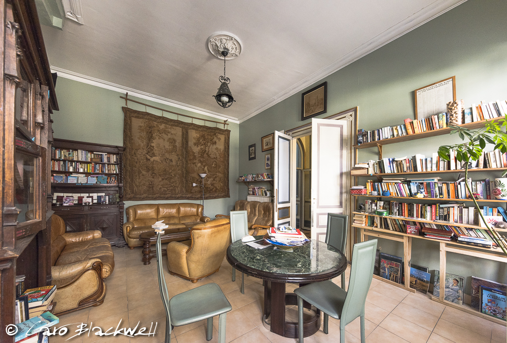 The Library at Chez Castillon