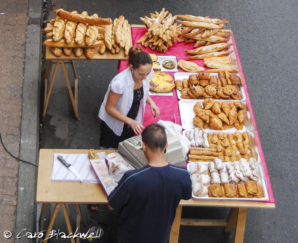 Boulangerie stall on Castillon Market
