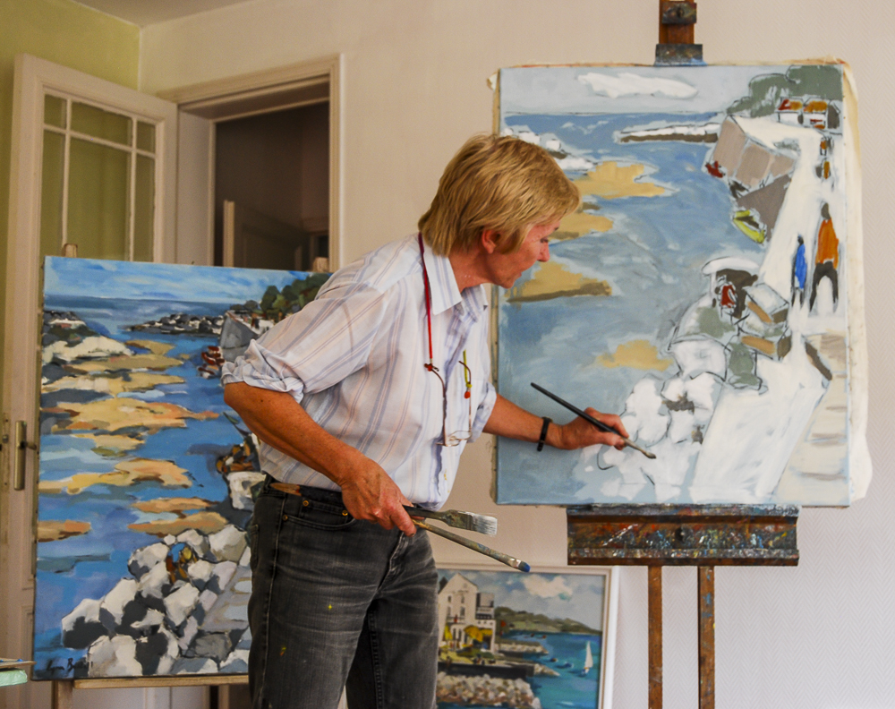 Painting Demonstration in the studio at Chez Castillon