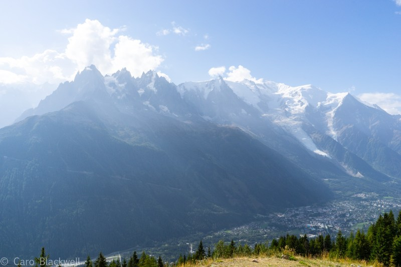 View from top of Flegere lift in Chamonix