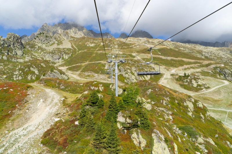 View from the Index Chair lift, Chamonix