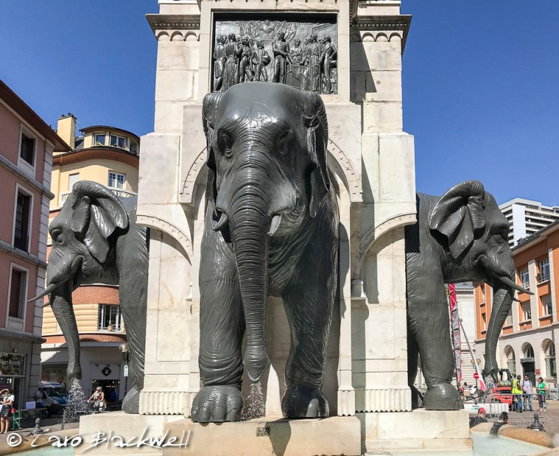 The Fontaines des Elephants Chambery