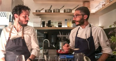 Chef Walter and chef Marco Ambrosino at Le Cinquieme Jour