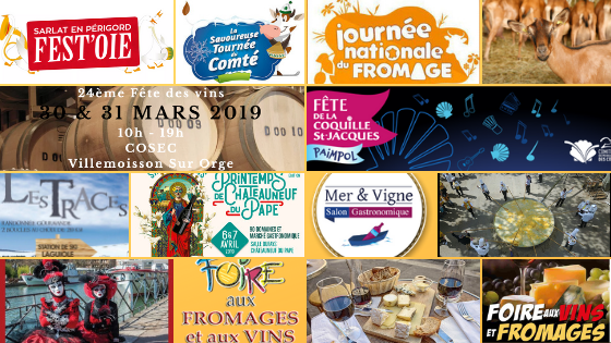 Food and Wine Festivals in FranceMar and April2019