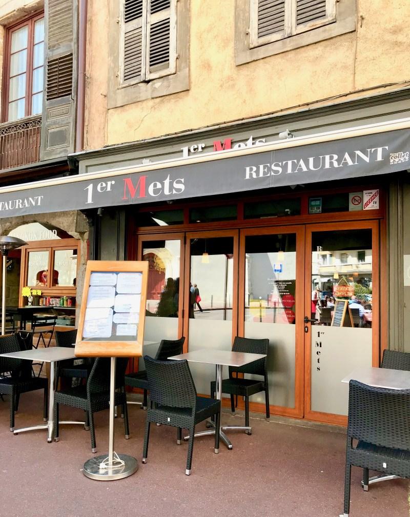 Restaurant 1er Mets in Annecy