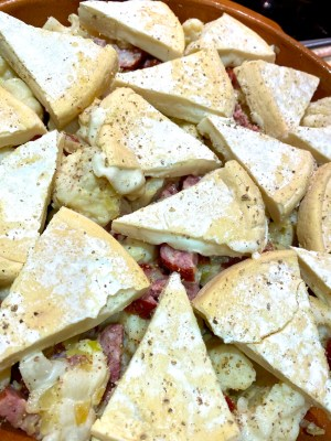 Reblochon on top of Tartiflette - Taste of Savoie