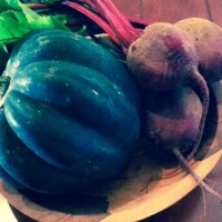 Roasted Acorn Squash and Beet Soup