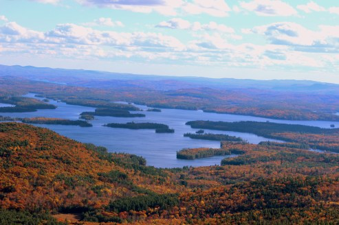 A view of squam lake from top of Mt Morgan, NH