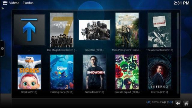Exodus - Kodi plugin za gledanje filmova online