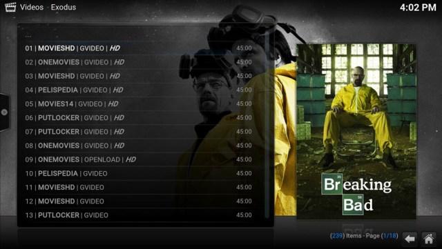 Exodus plugin za Kodi - najbolji online filmovi i TV serije