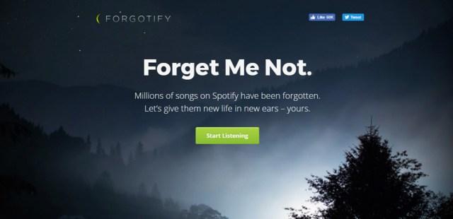forgotify website